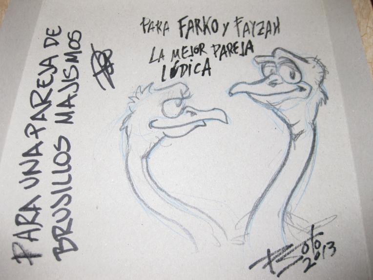 Una pasada el dibujo que se marcó Pedro Soto y la firma del autor Chemo. Esta caja ahora vale más que el oro.