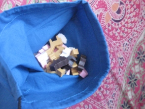 En su saco-establo