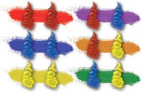 Combinación de los distintos colores y su resultado