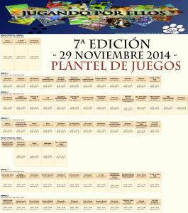 7ª JPE - Plantel juegos