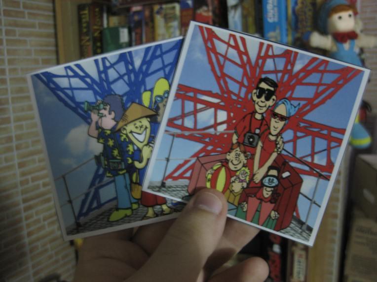 Hay cartas de uno, dos, tres y cuatro turistas.